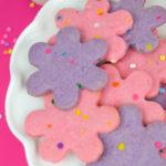 Colorful Funfetti Shortbread Cookies