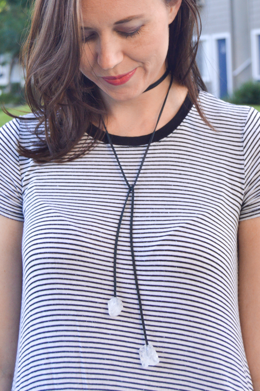 DIY Gem Choker Necklace | Club Crafted