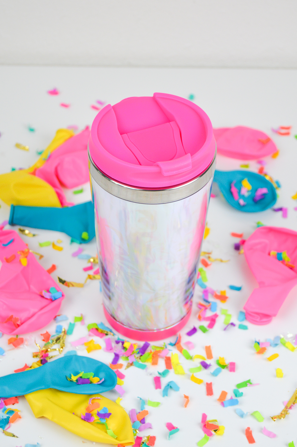 DIY Holographic Travel Mug | Club Crafted