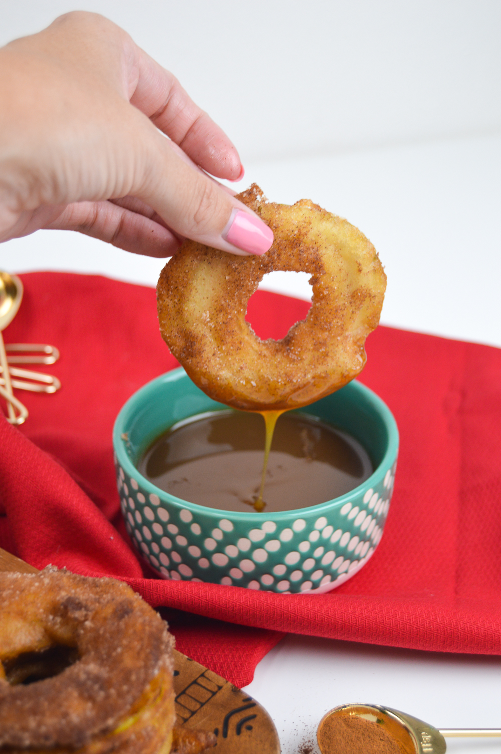 Fried Apple Rings + Bourbon Caramel Sauce | Club Crafted