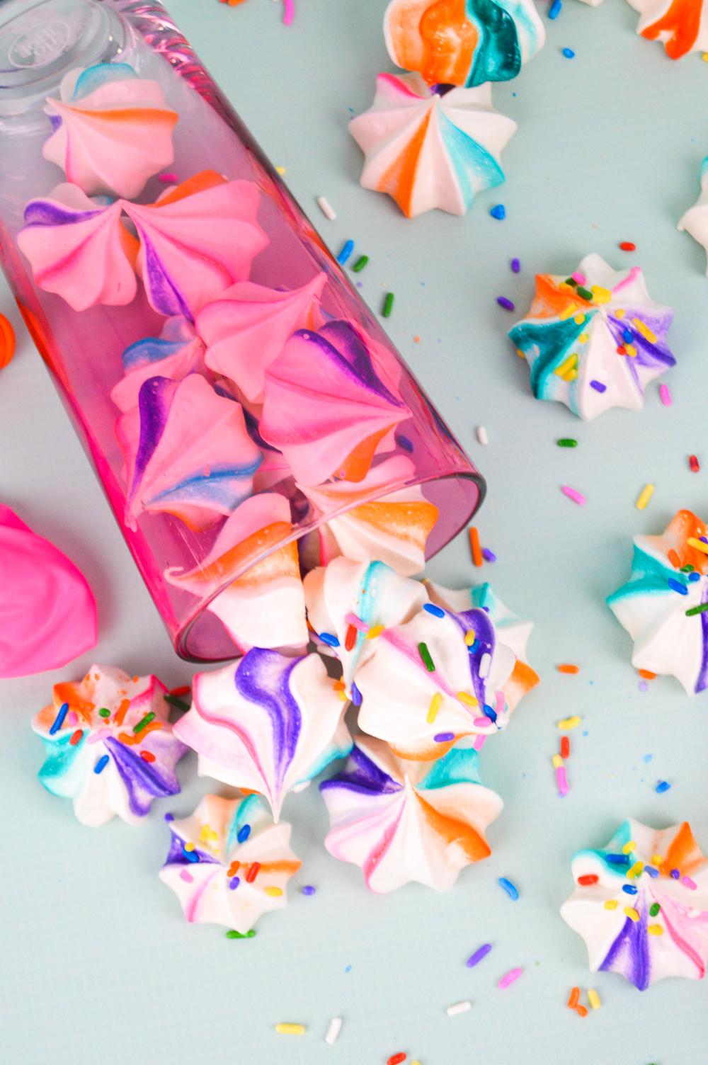 Rainbow Meringues   Club Crafted