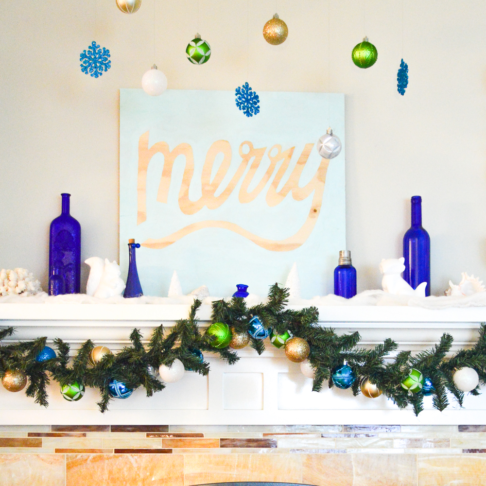 A California Winter Wonderland Mantel for the Home Depot Holiday Style Challenge