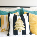 DIY Sequin Tree Pillow for Christmas