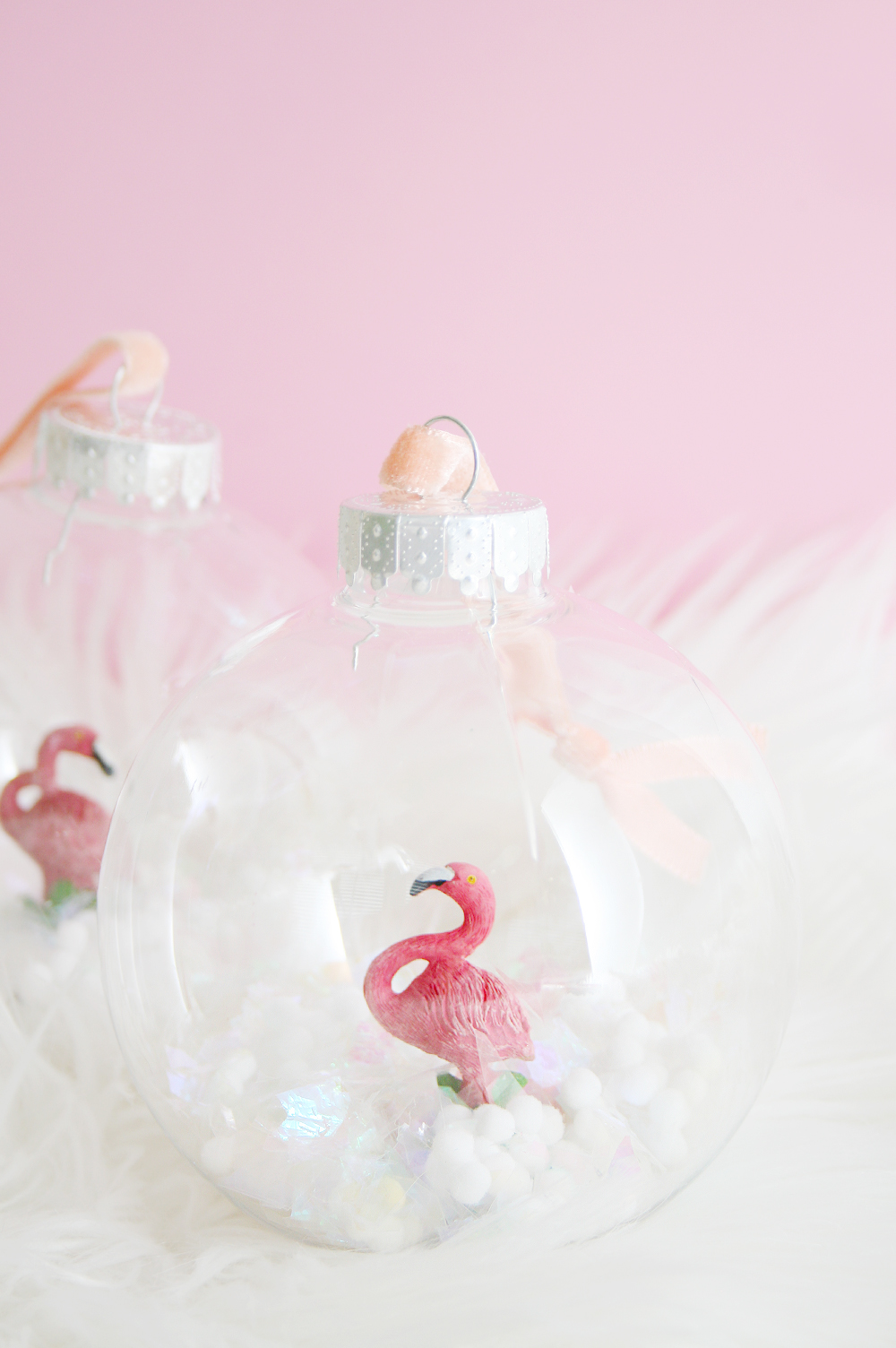 DIY Flamingo Snow Globe Ornament | Club Crafted