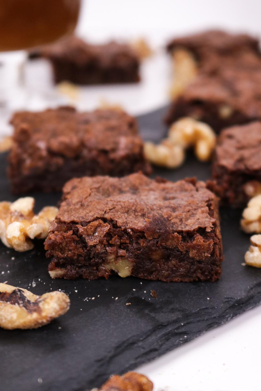 Bourbon Walnut Brownies | Club Crafted
