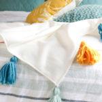 DIY Fleece Tassel Blanket