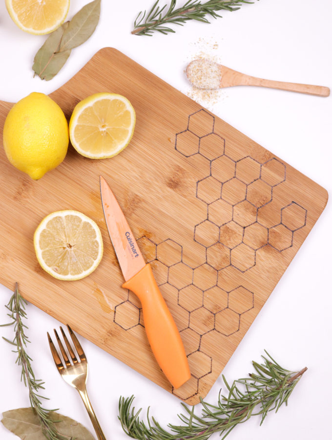 DIY Honeycomb Wood Burned Cutting Board