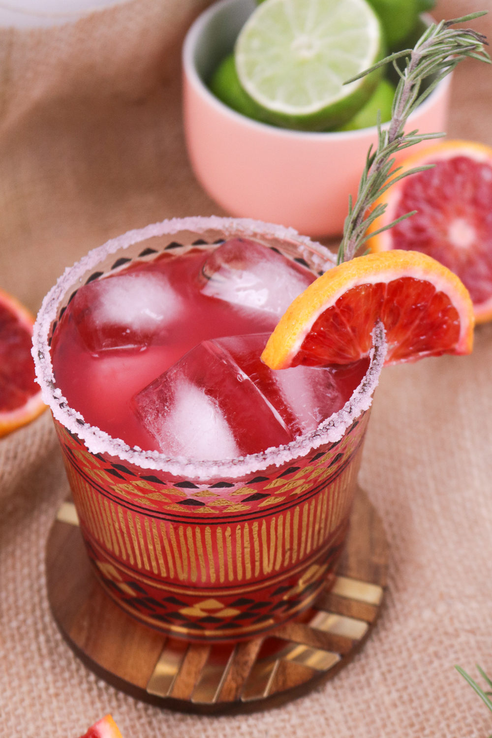 Rosemary Blood Orange Margaritas | Club Crafted