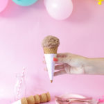 DIY Holographic Ice Cream Cone Wrappers