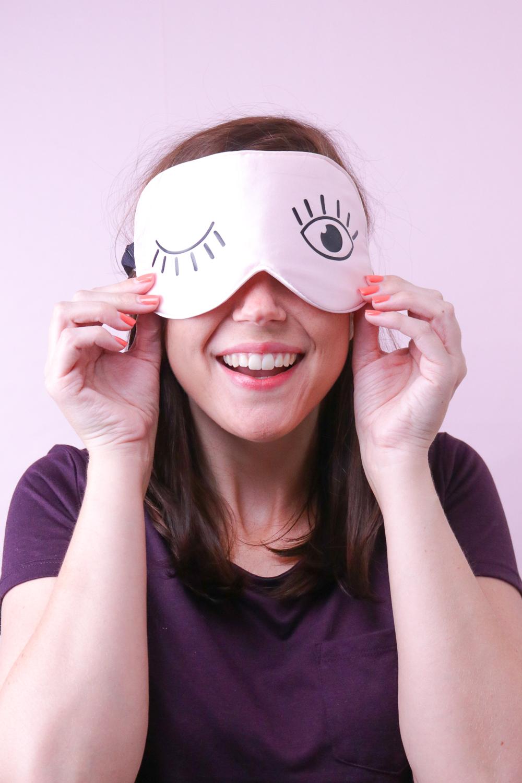 DIY Eyelash Sleep Mask | Club Crafted