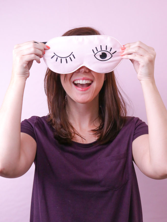 DIY Silk Eyelash Sleep Mask + Free Template