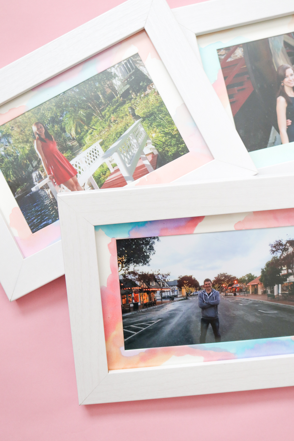 Wall Art: DIY Watercolor Photo Mats