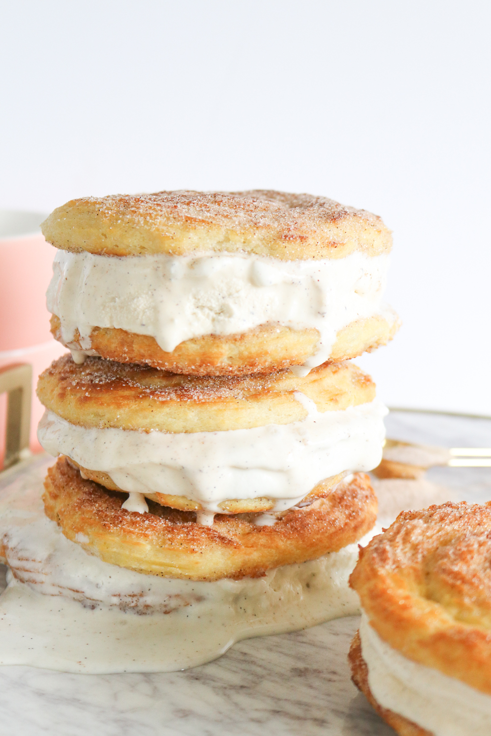 Baked Churro Ice Cream Sandwiches | Club Crafted