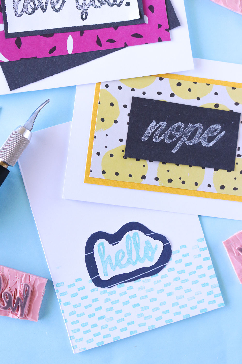 DIY Carved Cursive Stamps   Club Crafted