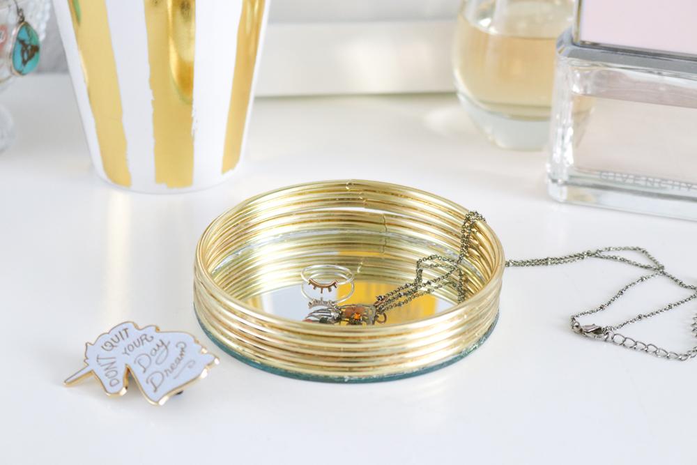 DIY Mirrored Trinket Dish | Club Crafted