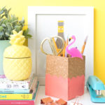 DIY Scalloped Cork Pencil Cup
