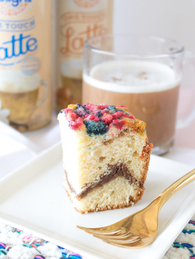A Latte's BFF: Colorful Coffee Cake