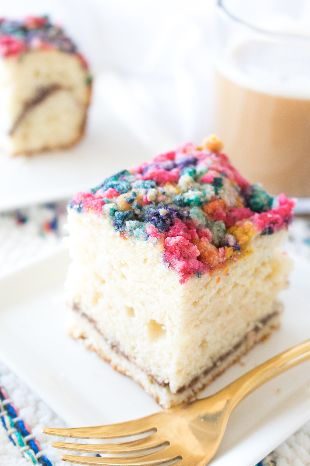 A Latte's BFF: Colorful Coffee Cake Recipe | Club Crafted
