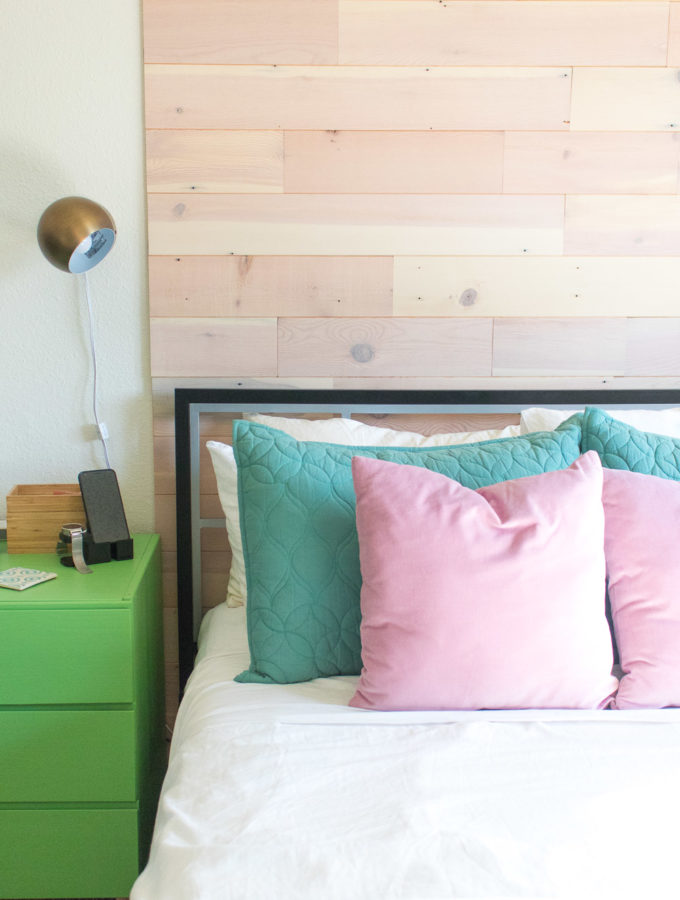 Renter-Friendly DIY Plank Accent Wall