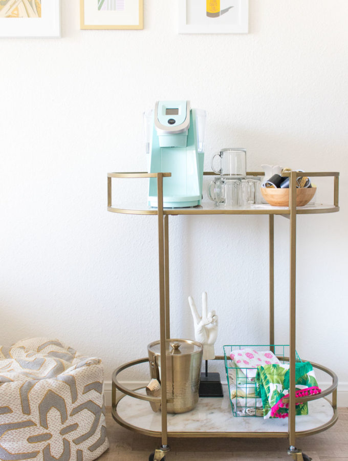 Double Duty: From Bar Cart to Coffee Cart