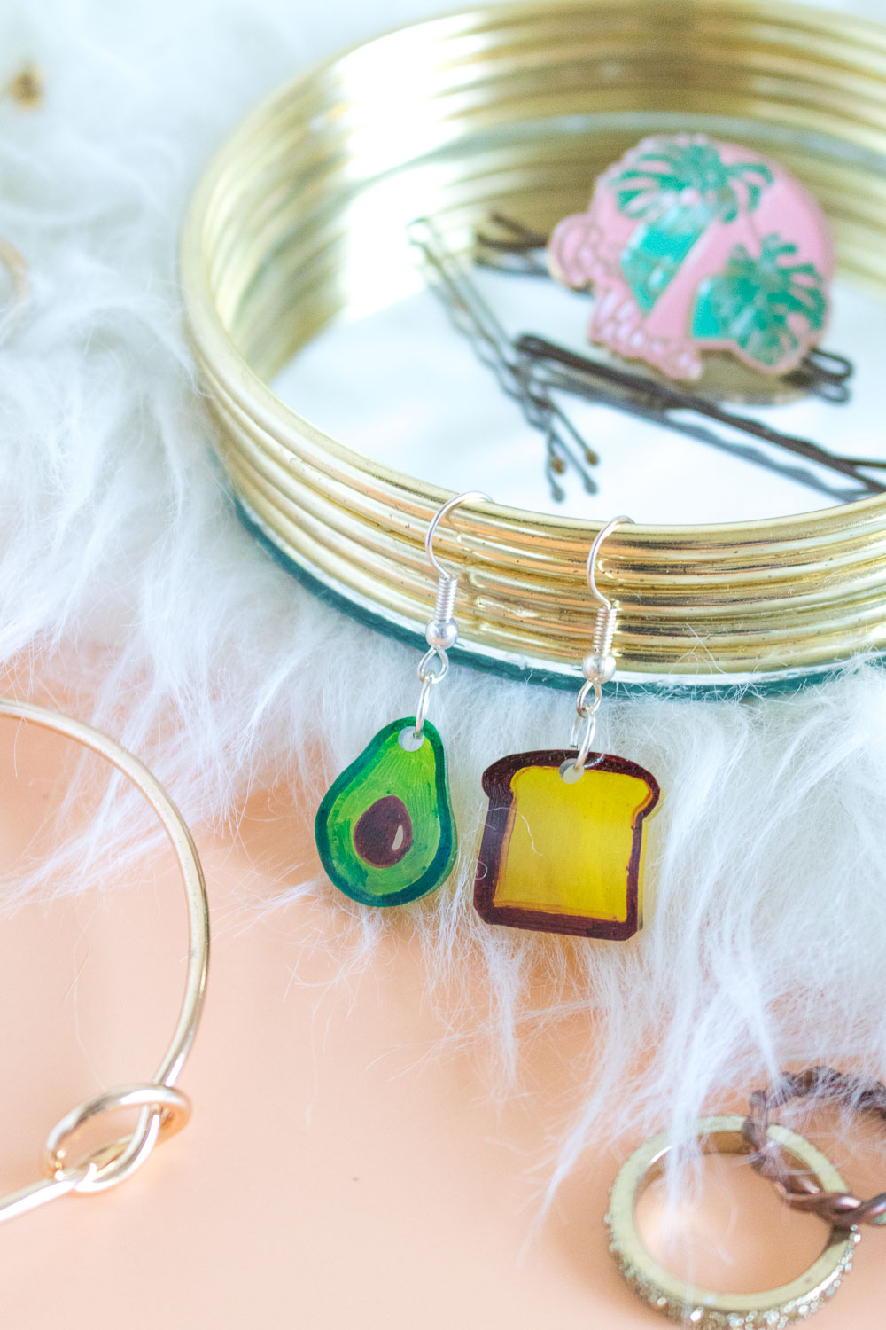 DIY Avocado Toast Earrings | Club Crafted