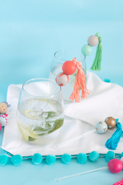 DIY Bead & Tassel Drink Stirrers | Club Crafted