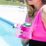 DIY Flamingo Can Cooler + Free Template!