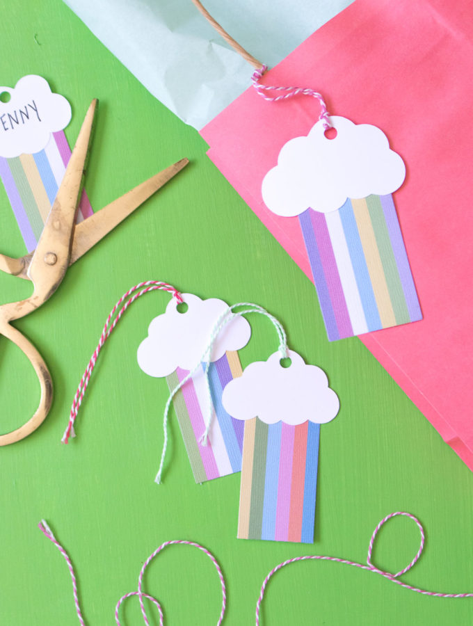 DIY Rainbow Gift Tags