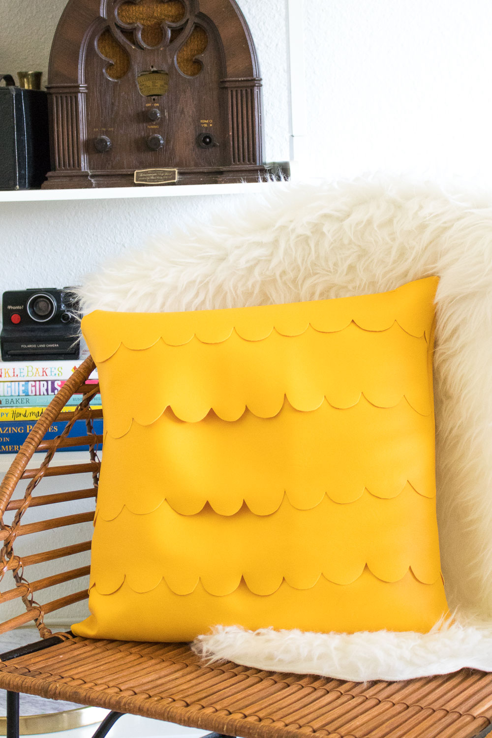 DIY Scalloped Leather Pillow | Club Crafted