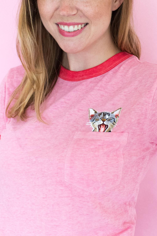 DIY Peekaboo Patch T-Shirt   Club Crafted