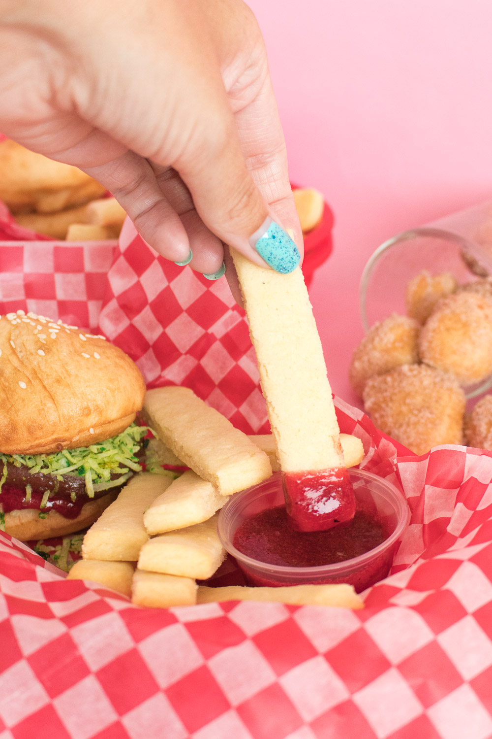 Donut Burgers + Cookie Fries | Club Crafted