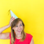 DIY Iridescent Party Hats