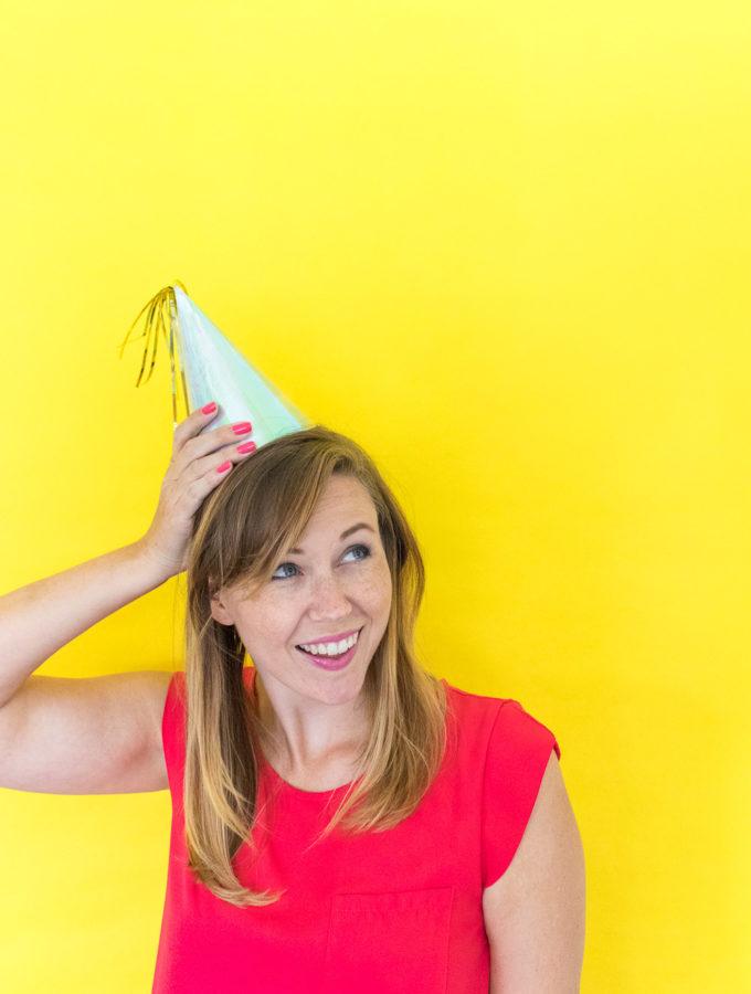 DIY Iridescent Party Hats