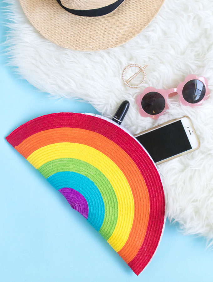 DIY Rainbow Clutch