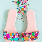 DIY Rhinestone Slider Sandals