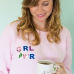 DIY Foiled Girl Power Sweatshirt