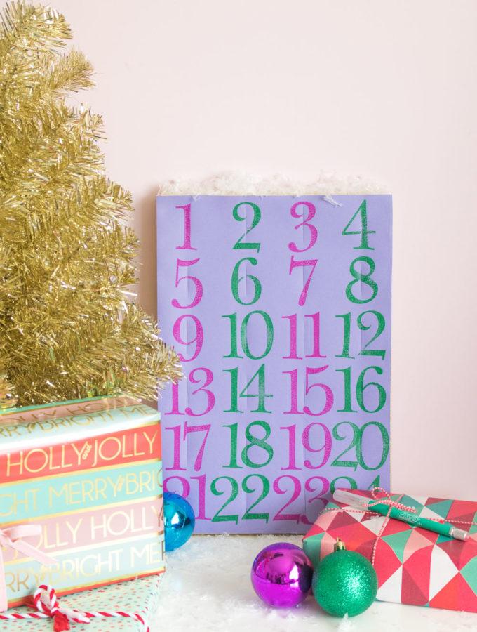 DIY Paper Advent Calendar for Christmas