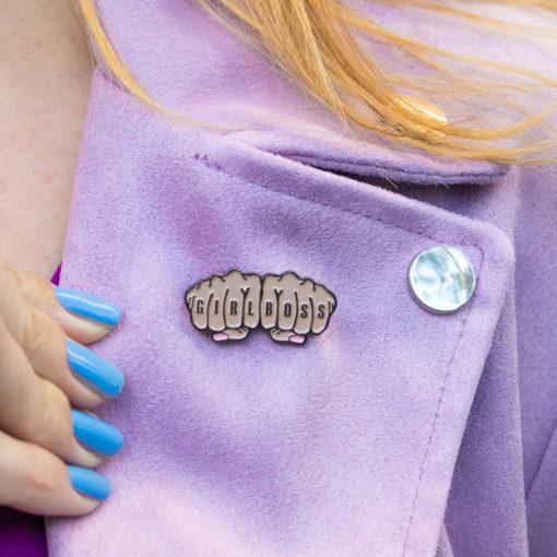 """Girlboss"" Enamel Pin | Club Crafted"
