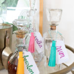 DIY Paper Tassel Decanter Tags