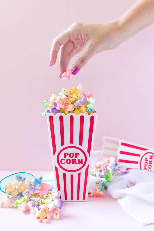 Rainbow Popcorn   Club Crafted